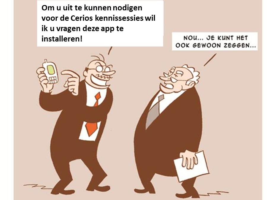 Cerios uitnodiging Mobile app 3 okt 2012